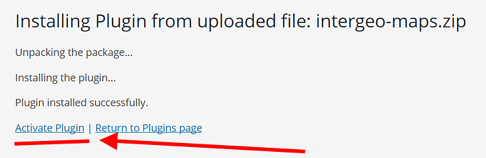 Activate an uploaded plugin in WordPress backend