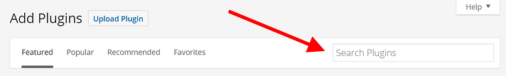 Type the name of your desired plugin or a a keyword into the search box.